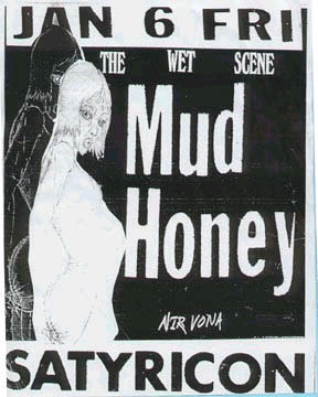 Mudhoney Nirvana Satyricon Jan 6 1989 poster