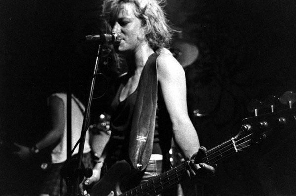 L7 bassist Jennifer Finch at Satyricon early 90's