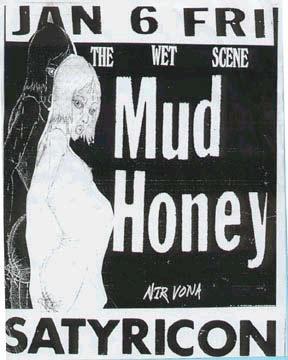 Mudhoney Nirvana Satyricon Jan 6 1989 poster